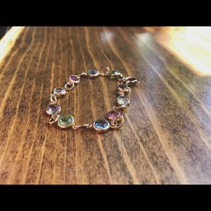 Other - 14k Gold-plated Multi Gem Stone Bracelet: children